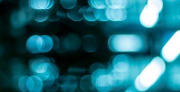 Bannière floue bleue