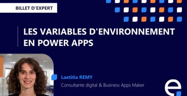 Article variables d'environnement Laetitia Remy