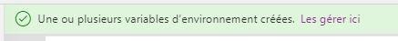 Gérer les variables d'environnement