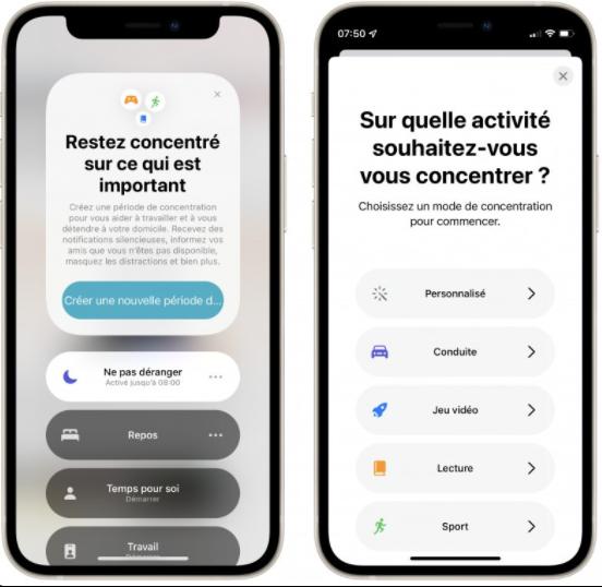 interface mobile données collaborateurs